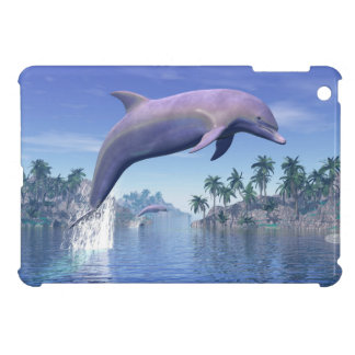 Dolphin in the tropics - 3D render iPad Mini Case