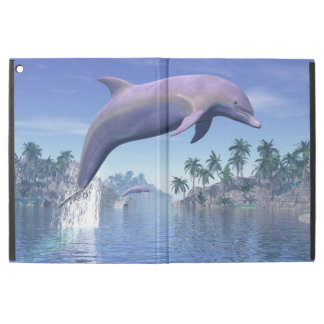 "Dolphin in the tropics - 3D render iPad Pro 12.9"" Case"