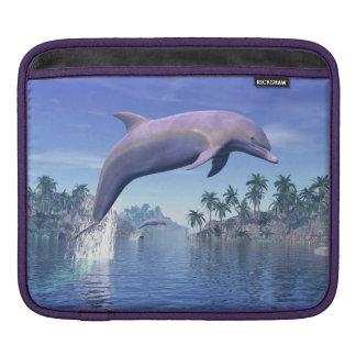 Dolphin in the tropics - 3D render iPad Sleeve