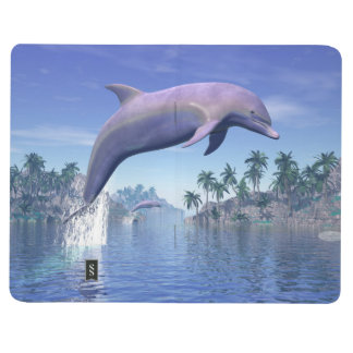 Dolphin in the tropics - 3D render Journal