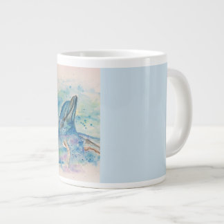 Dolphin in the water large coffee mug