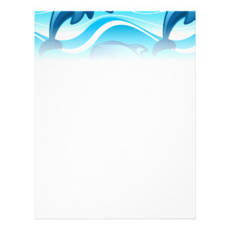 Dolphin jumping waves flyer