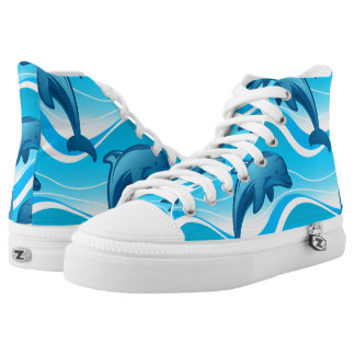 Dolphin jumping waves high tops