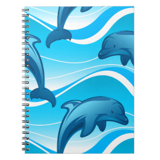 Dolphin jumping waves notebooks