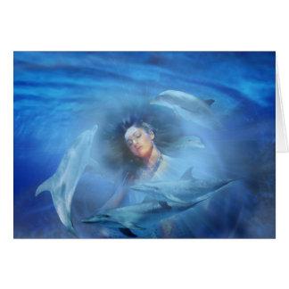 Dolphin Lady Card