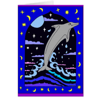 "Dolphin ""Leap for the Stars"" Card"