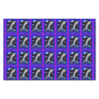 Dolphin `Leap for the stars' Tissue Paper