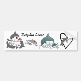 Dolphin Lover bumper sticker