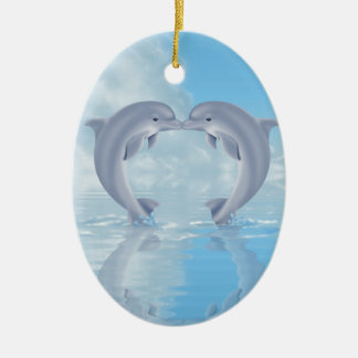 Dolphin Lovers Gift Ideas Ceramic Ornament