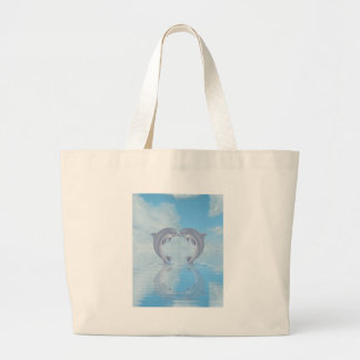 Dolphin Lovers Gift Ideas Large Tote Bag