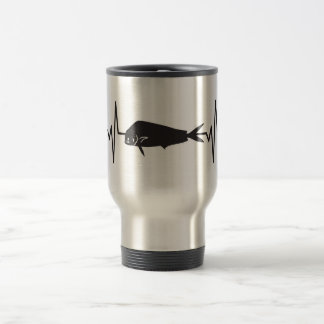 Dolphin / Mahi Mahi Fish - Heartbeat Pulse Travel Mug