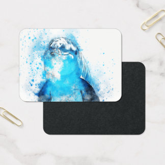 Dolphin Marine Animal Swim Dive Destiny Destiny's Business Card