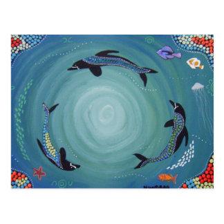 Dolphin Moon Postcard