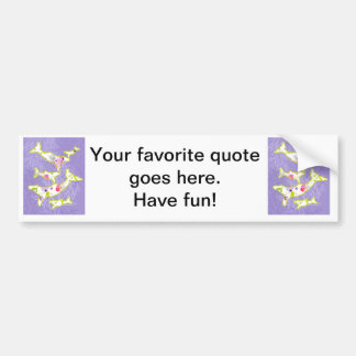 Dolphin on plain violet background. bumper sticker