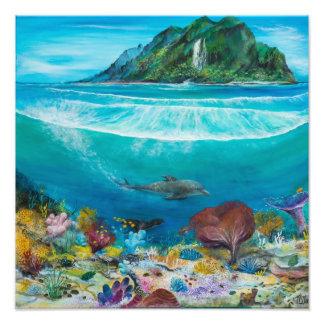Dolphin painting on art photo