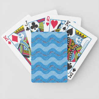 Dolphin Patterned Bicycle Playing Cards