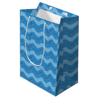 Dolphin Patterned Medium Gift Bag