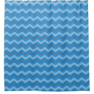 Dolphin Patterned Shower Curtain