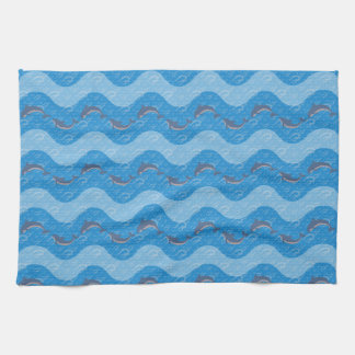Dolphin Patterned Tea Towel