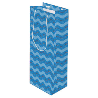 Dolphin Patterned Wine Gift Bag
