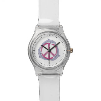 Dolphin Peace Pink Wrist Watches