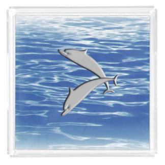 Dolphin Play Acrylic Tray
