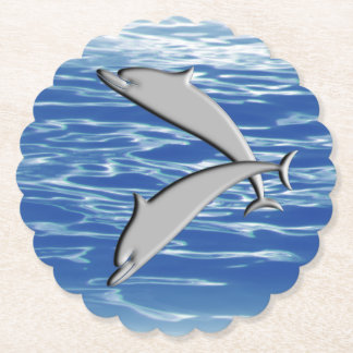 Dolphin Play Paper Coaster