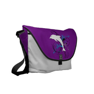 Dolphin - Purple Personalized Messenger Bag
