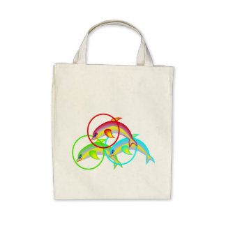 Dolphin Rings Canvas Bag