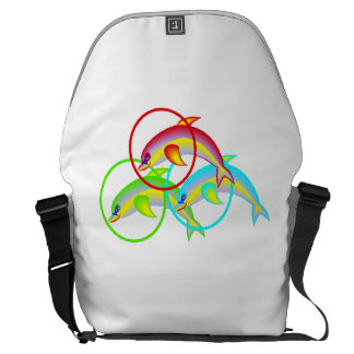 Dolphin Rings Courier Bag