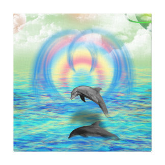 Dolphin Rising Canvas Print