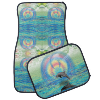 Dolphin Rising Car Mat