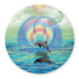 Dolphin Rising Ceramic Knob