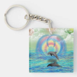 Dolphin Rising Key Ring