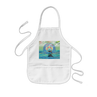 Dolphin Rising Kids Apron