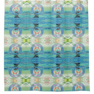 Dolphin Rising Shower Curtain