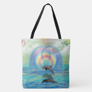 Dolphin Rising Tote Bag