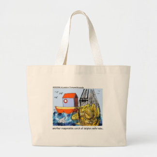 Dolphin Safe Tuba Funny Gifts Tees & Collectibles Large Tote Bag