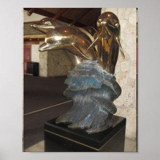 DOLPHIN Sculpture Vegas  : Casinos, Resorts Hotels Poster