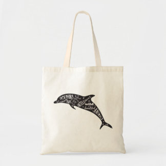 Dolphin Silhouette and Cute Typography Bag