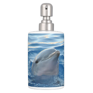 Dolphin Soap Dispenser And Toothbrush Holder