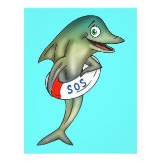 Dolphin SOS 21.5 Cm X 28 Cm Flyer