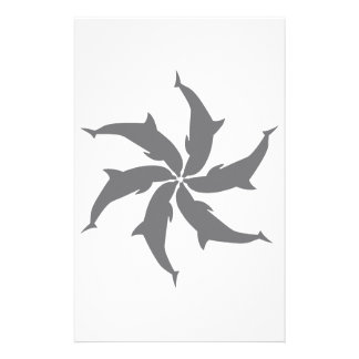 DOLPHIN SPIRAL PERSONALIZED STATIONERY