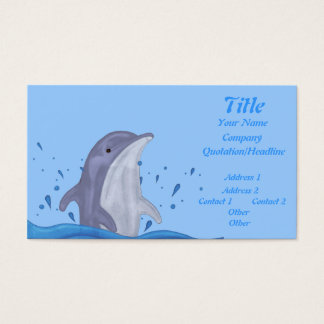 Dolphin Splash Business Card
