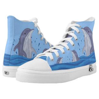 Dolphin Splash High Tops