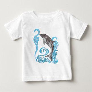 Dolphin Splashing Baby T-Shirt