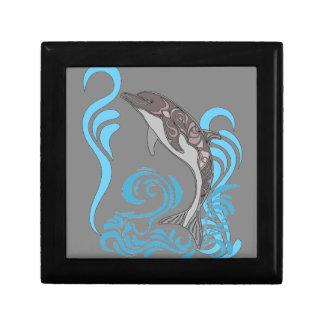 Dolphin Splashing Gift Box