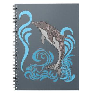 Dolphin Splashing Spiral Notebook