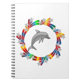 Dolphin Stars Spiral Notebook