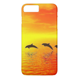 Dolphin Sunset iPhone 7 Plus Case